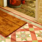 Blenheim pattern in Green, Red, Buff and White with Telford border