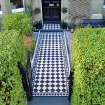 Victorian Tiles. Dorchester in Black and Dover White