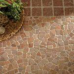 Mosaics - Rustic Red Mosaic Landscape
