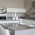 Silestone quartz kitchen worktops in cocina white platinum from New Image.