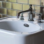 Traditional white hand basin