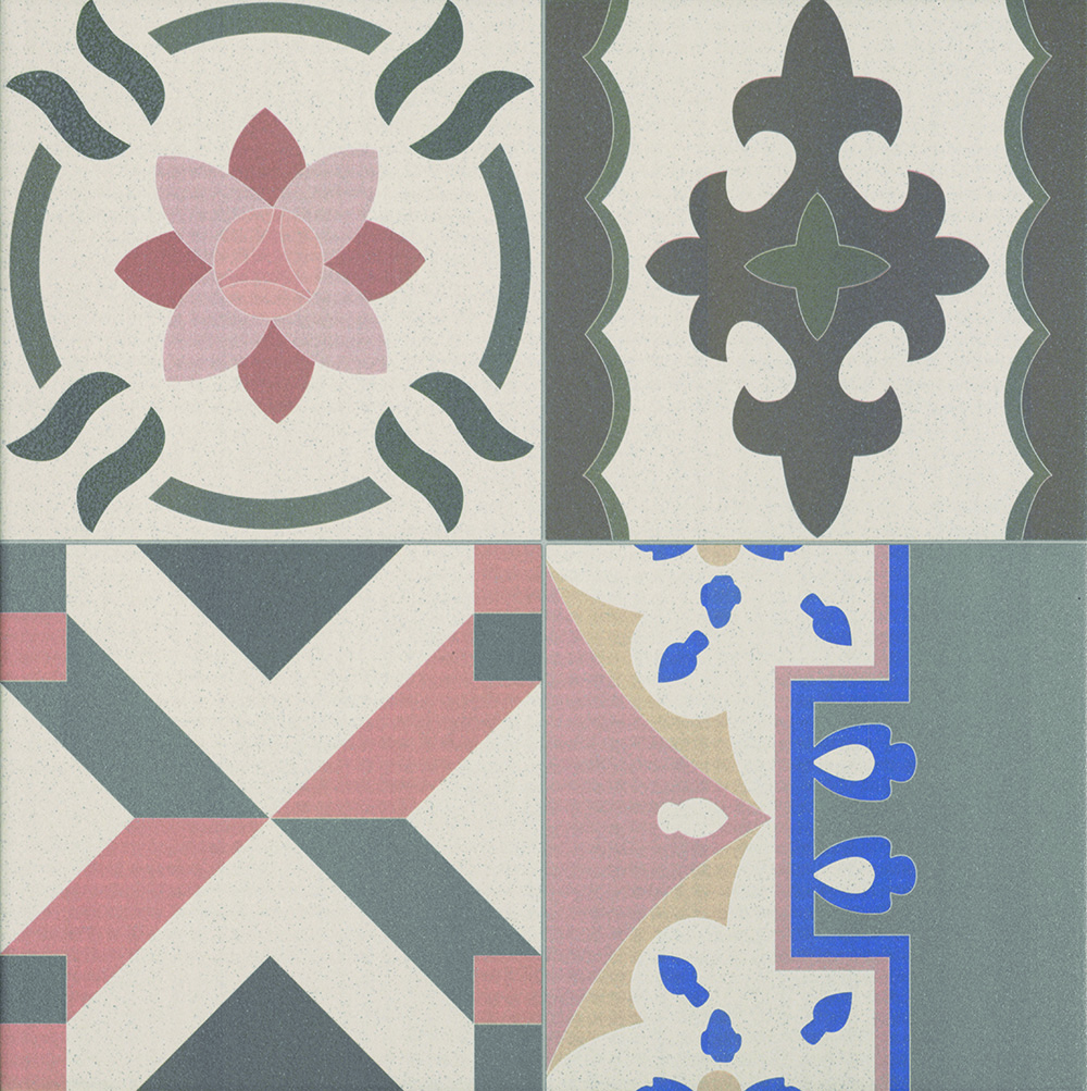 Patchwork Porcelain Decor Tile 440mm X 440mm New Image Tiles