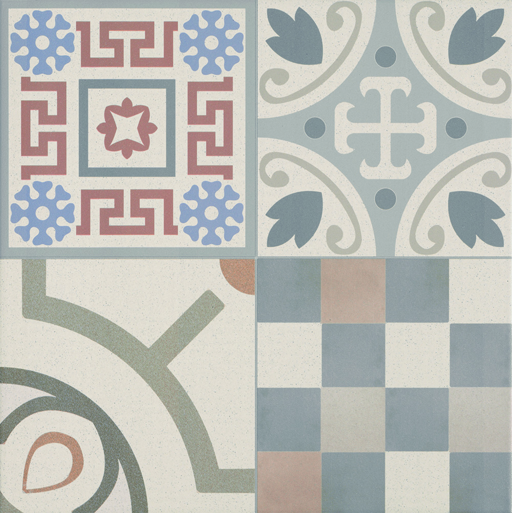 Patchwork Porcelain Decor Tile 440mm X 440mm New Image Tiles