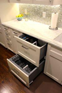 Double drawer dishwashers.