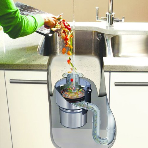 Sink with waste disposal unit