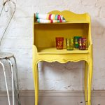 english yellow annie sloan chalk paint console table