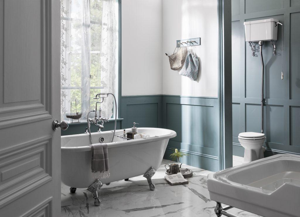 period panelled bathroom