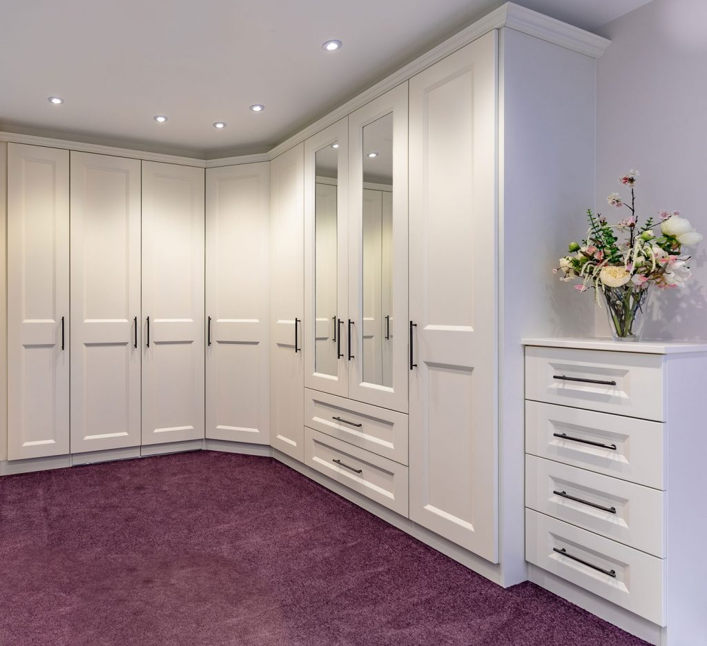 white fitted wardrobes bedroom
