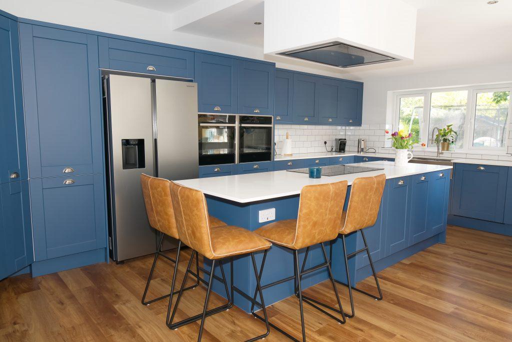 dark blue stylish kitchen